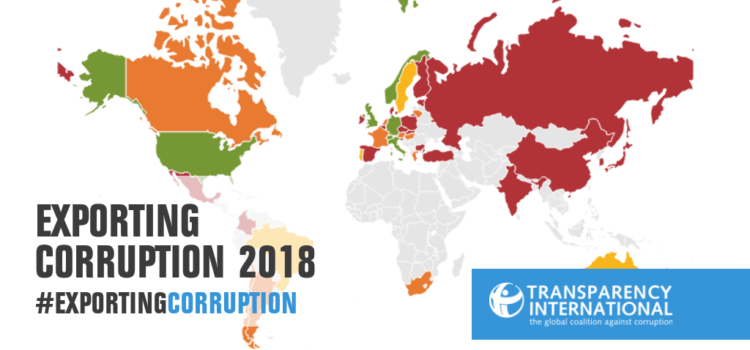 Exporting Corruption 2018: Portugal regista progressos no combate à corrupção no comércio internacional
