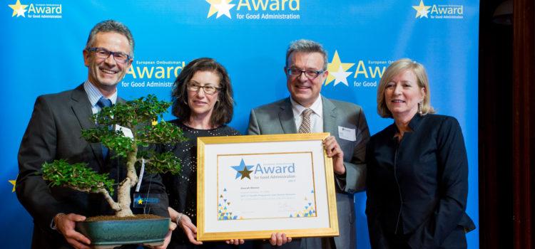 "Pacto de Integridade recebe ""Award for Good Administration"" do Provedor de Justiça Europeu"