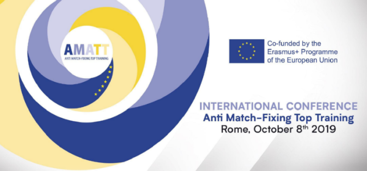 Conferência Internacional AMATT – Anti Match-Fixing Top Training | 8 de outubro, Roma